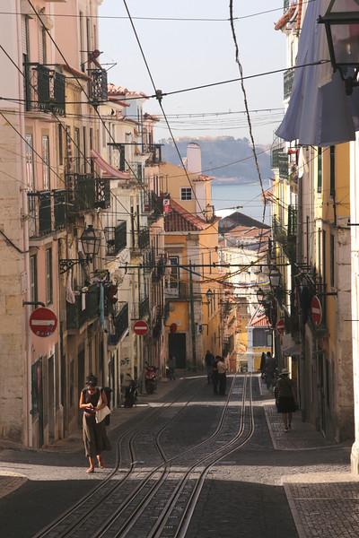 Elevador da Bica Bairro Alto district Lisbon Portugal