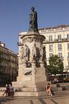 Luis de Camoes poet statue in Chiado district Lisbon Portugal