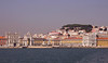 Lisbon cityscape and Praca do Comercio Portugal