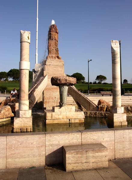 1974 Revolution Memorial at Parque Eduardo VII Lisbon Portugal