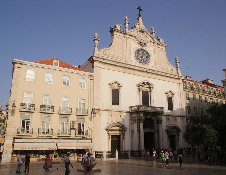 Sao Domingos Church in Largo de Sao Domingos Square Lisbon Portugal