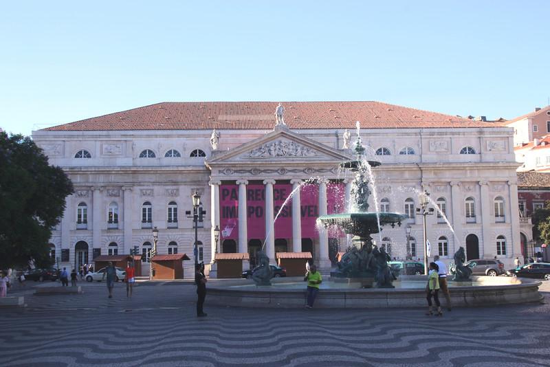 Teatro Nacional Dona Maria II Rossio Square Lisbon Portugal