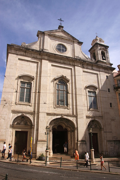 Igreja Madalena church Rua da Conceicao Lisbon Portugal