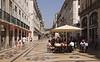 Open air cafes Rua Augusta Lisbon Portugal