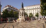 Praca Luis de Camoes in Chiado district Lisbon Portugal