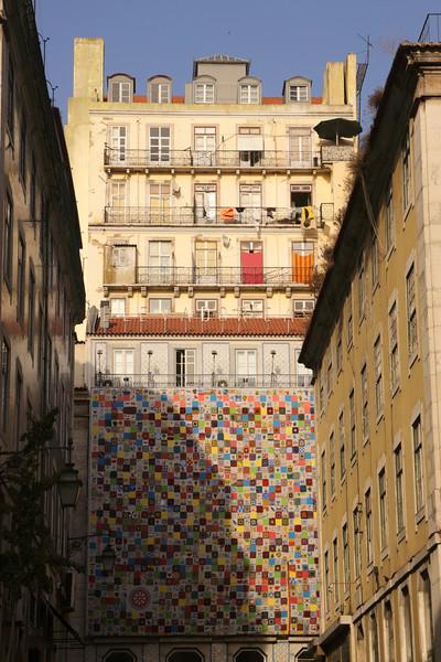 Colourful apartments Baixa Lisbon Portugal
