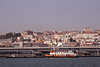 Lisbon cityscape and Estacio Fluvial ferryport Portugal