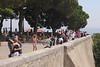 Tourists at Observation Terrace Castelo de Sao Jorge Lisbon Portugal
