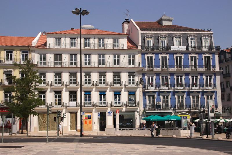 Buildings along Praca dos Restauradores Lisbon Portugal