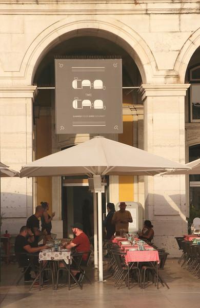 Can the Can Restaurant at Praca do Comercio Lisbon Portugal