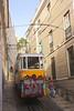 Tram in Elevador de Lavra Lisbon Portugal