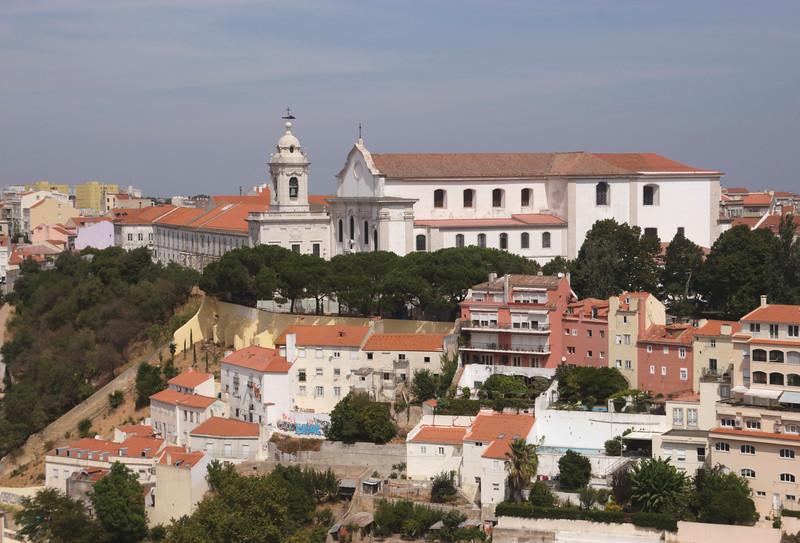 Miradouro da Graca working class quarter and Augustinian Monastery Lisbon Portugal