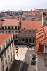 Aerial view of Lisbon rooftops Portugal