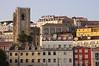 Buildings in Alfama Lisbon Se Cathedral on left