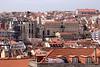 Lisbon Baixa skyline Portugal