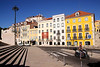 Colourful buildings along Rua de Sao Bento Lisbon Portugal