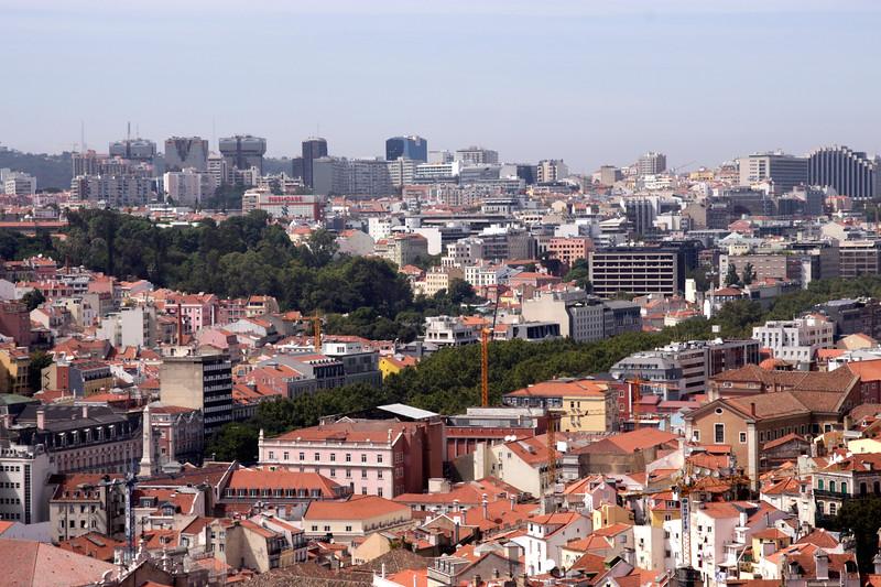 Lisbon suburbs skyline Portugal