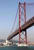 Ponte 25 de Abril bridge linking central Lisbon with the Outra Banda Portugal