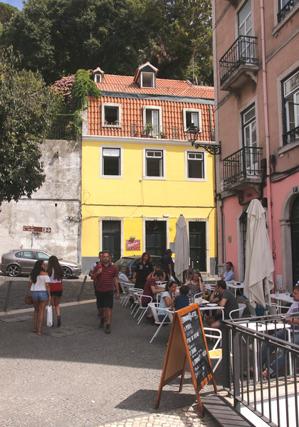 Restaurant in Alfama Lisbon Portugal