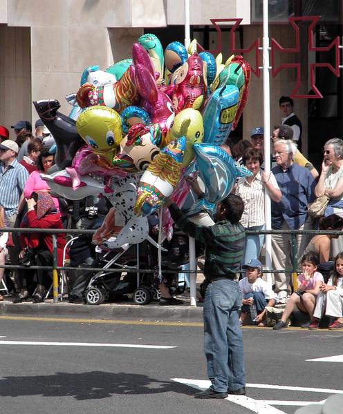 Balloon seller Spring Flower Festival Funchal Madeira 2004