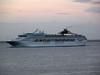 P and O liner Oriana arriving at Madeira at dawn