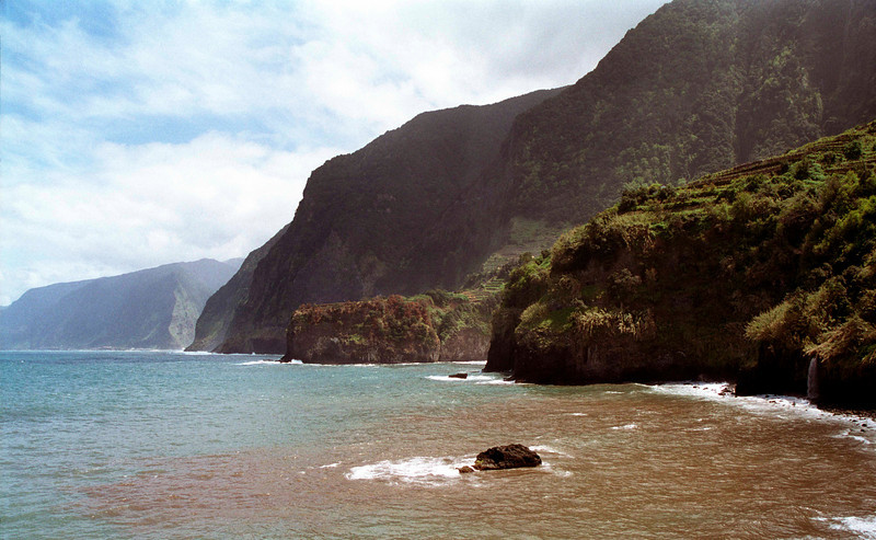 Coastline of western Madeira view from Seixal