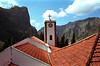 Church rooftop and belltower Nun's Valley Madeira