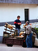 Onion seller in truck Nun s Valley Madeira