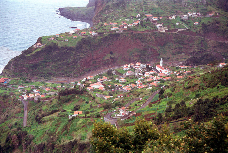 Village of Faial north Madeira