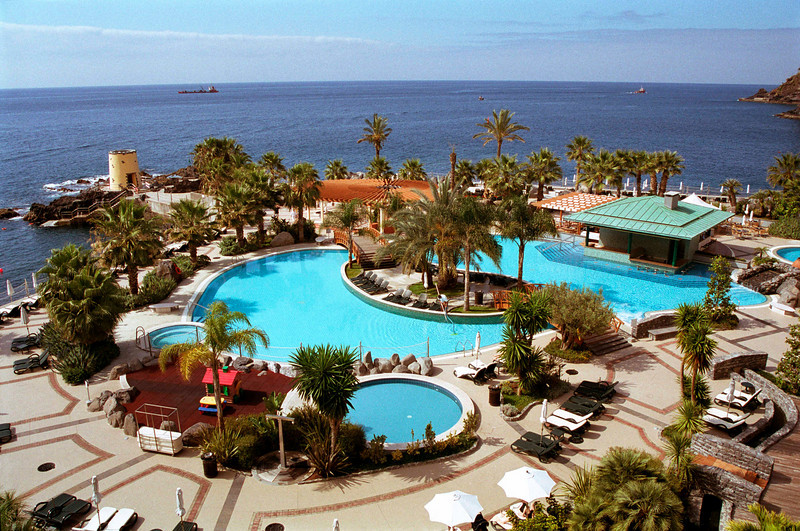 Swimming pools in grounds of Royal Savoy Hotel Madeira