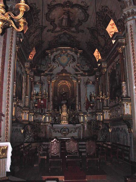 Church interior at Sao Vicente Madeira