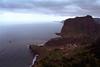 Cliff of Penha da Aguia and Faial village north Madeira