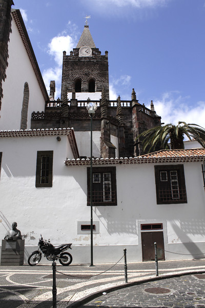 Funchal and spire of Se Cathedral Madeira