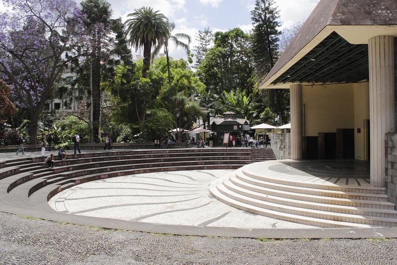 Ampitheatre in the Jardim de Sao Francisco Funchal Madeira