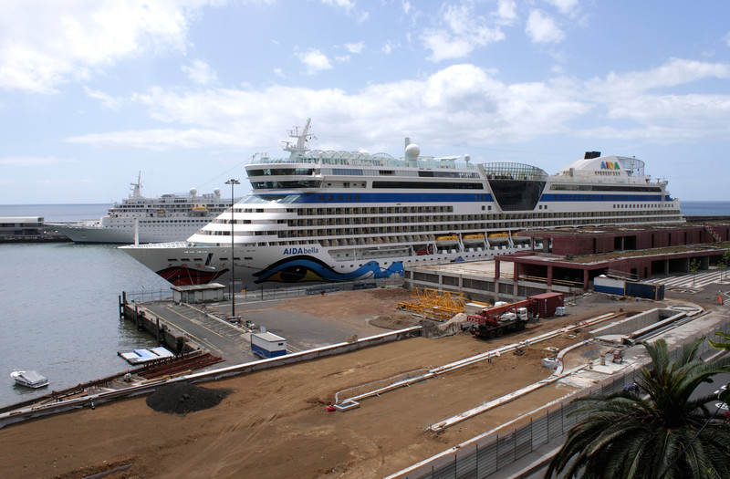 Aida Bella Cruise Liner docked at Funchal Harbour Madeira