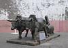 Bulls statue Funchal Madeira