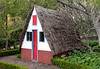 Traditional Madeiran house in Botanical Gardens Funchal