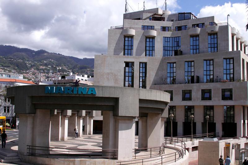 Marina building at Rua Fontes Funchal Madeira