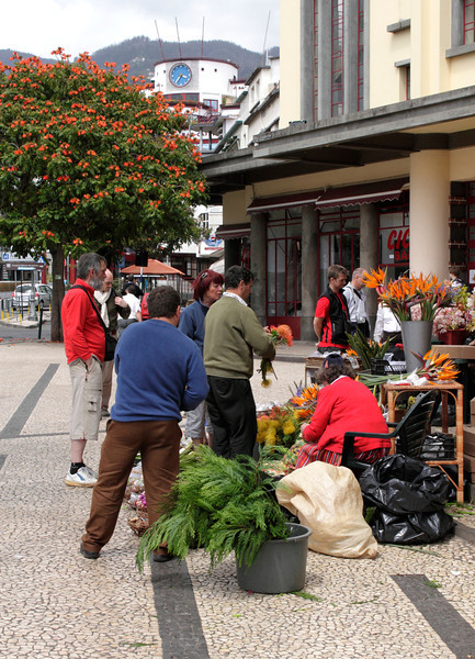 Flower stall outside the Mercado dos Lavradores Funchal