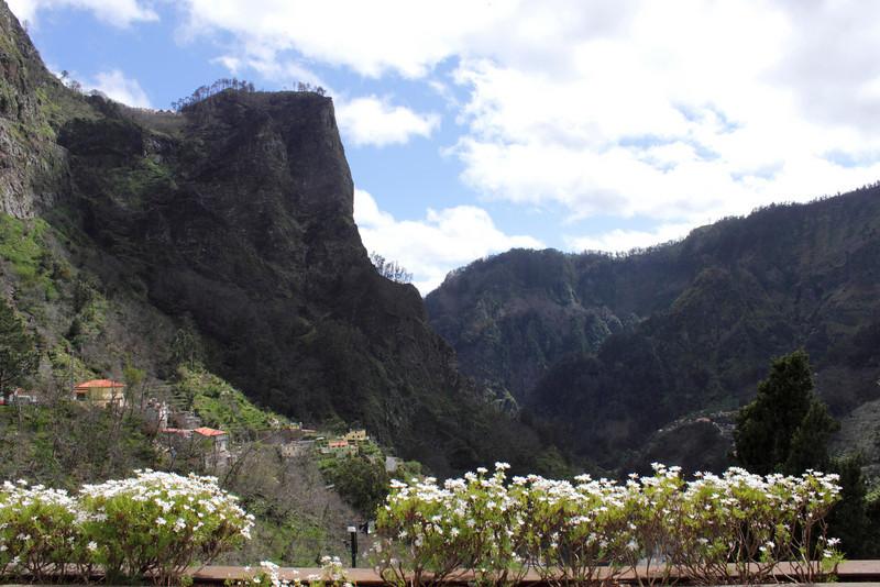 Cliff overlooking Nuns Valley Madeira