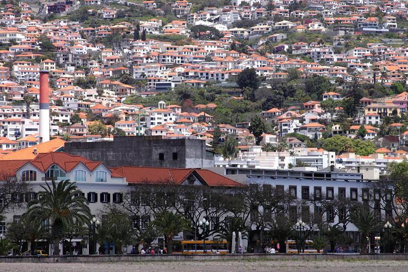 Funchal view towards Avenida Do Mar