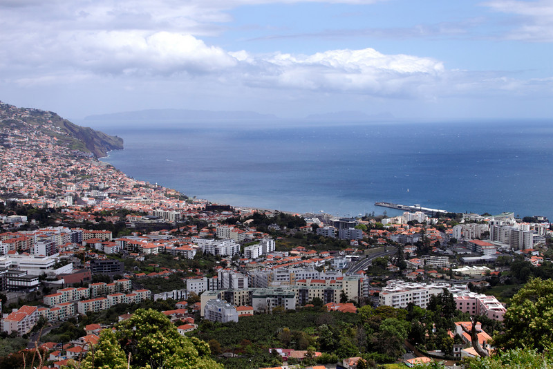 Funchal viewed from Pico dos Barcelos Madeira