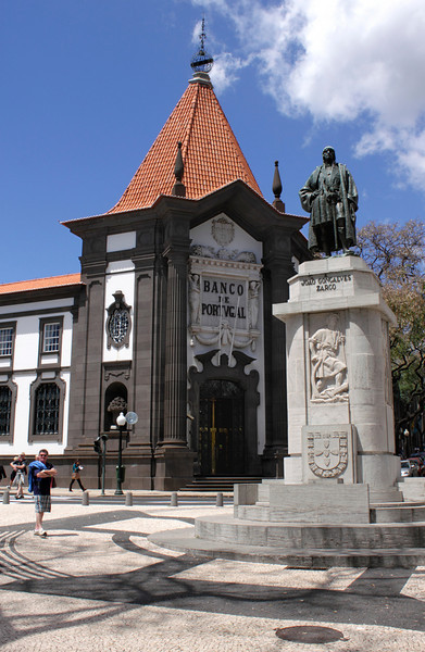 Zarco statue Funchal Madeira