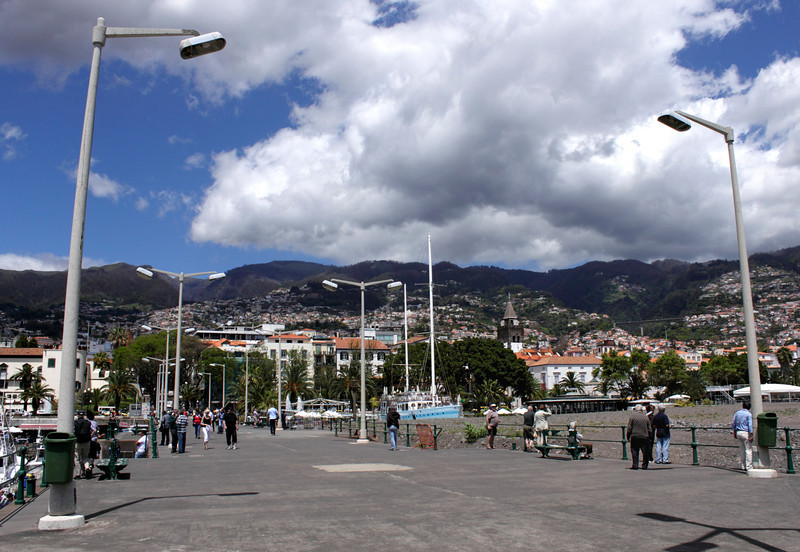 Seafront pier by the Marina at Funchal Madeira