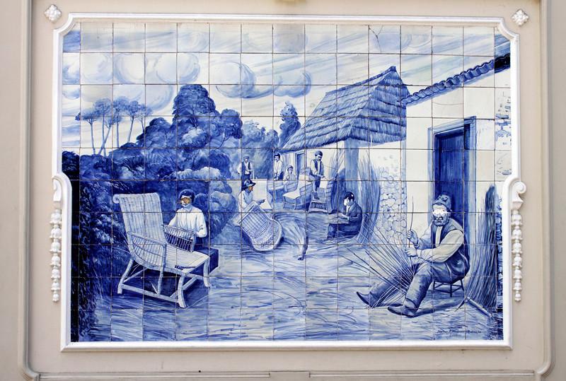 Azulejos mural in Avenida Arriaga Funchal Madeira