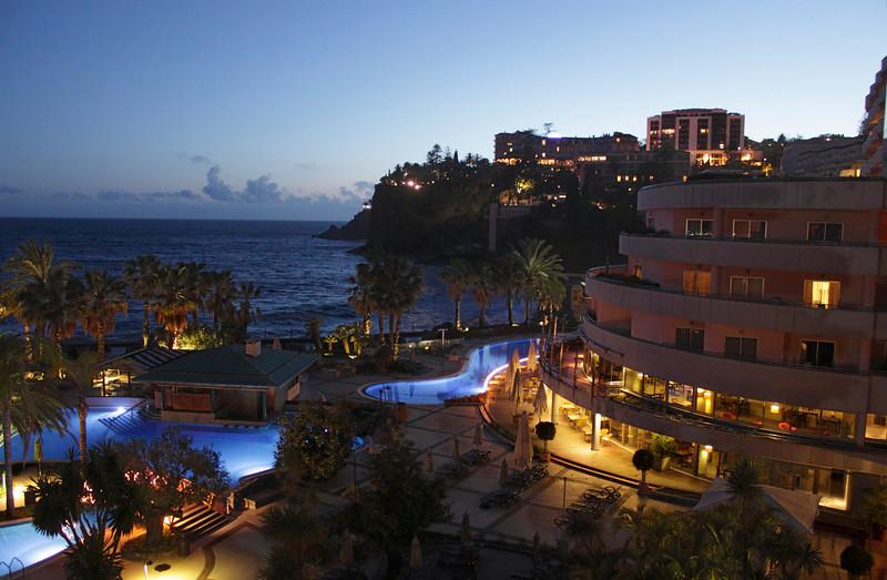 Royal Savoy Hotel Funchal Madeira at dusk