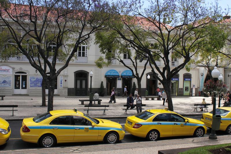 Taxi rank at Avenida Arriaga Funchal Madeira