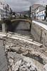 Canal of the Riba de Santa Luzia Funchal April 2011 bridge still showing flood damage from February 2010