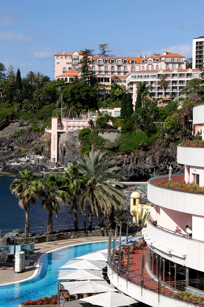 Reids Hotel Funchal Royal Savoy Hotel in foreground