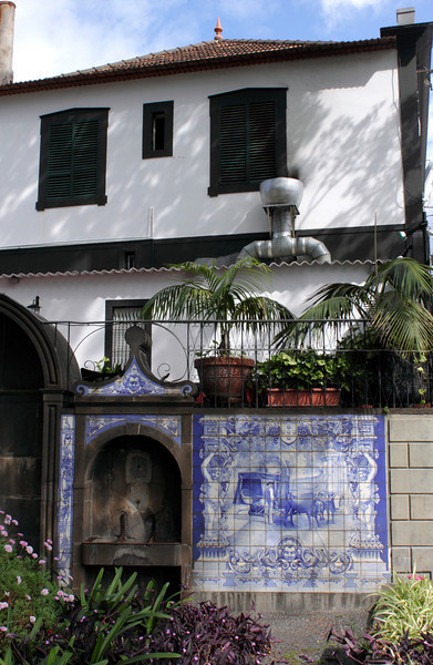 House in Funchal Madeira with Azulejos tiles